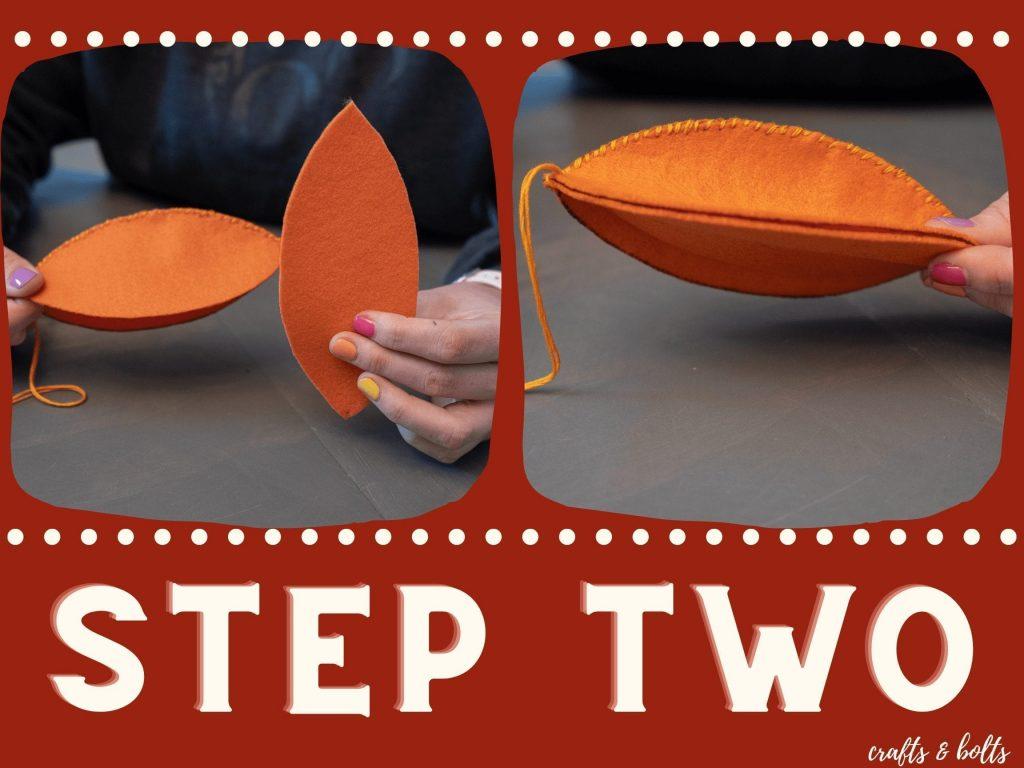 Felt Pumpkin Step 2