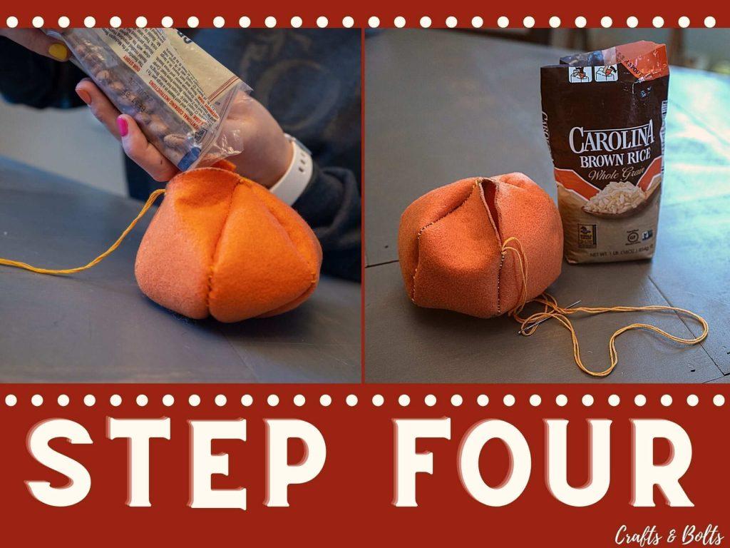 Fill Felt Pumpkin Step 4