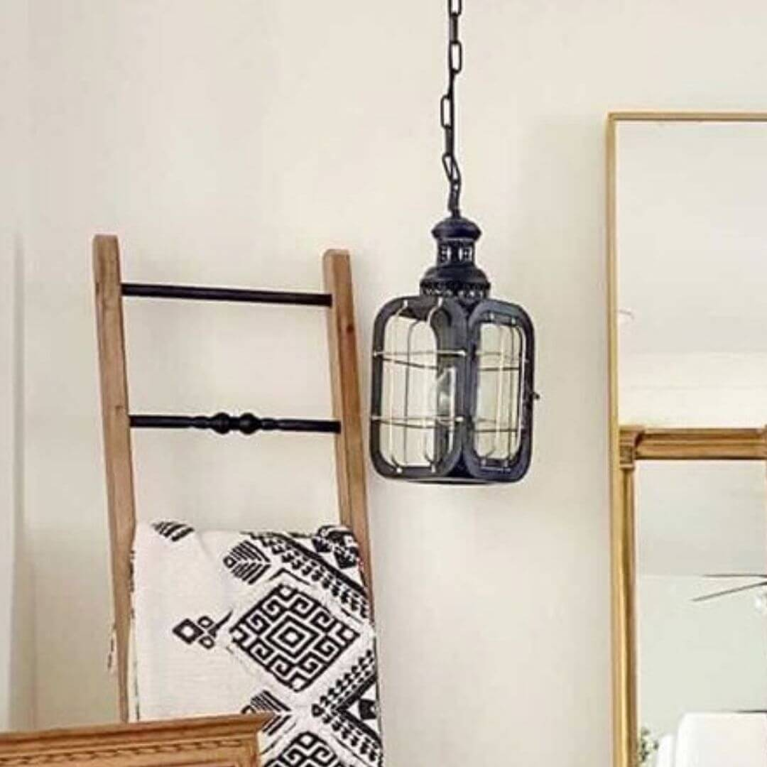 Vintage Industrial Caged Pendant Light