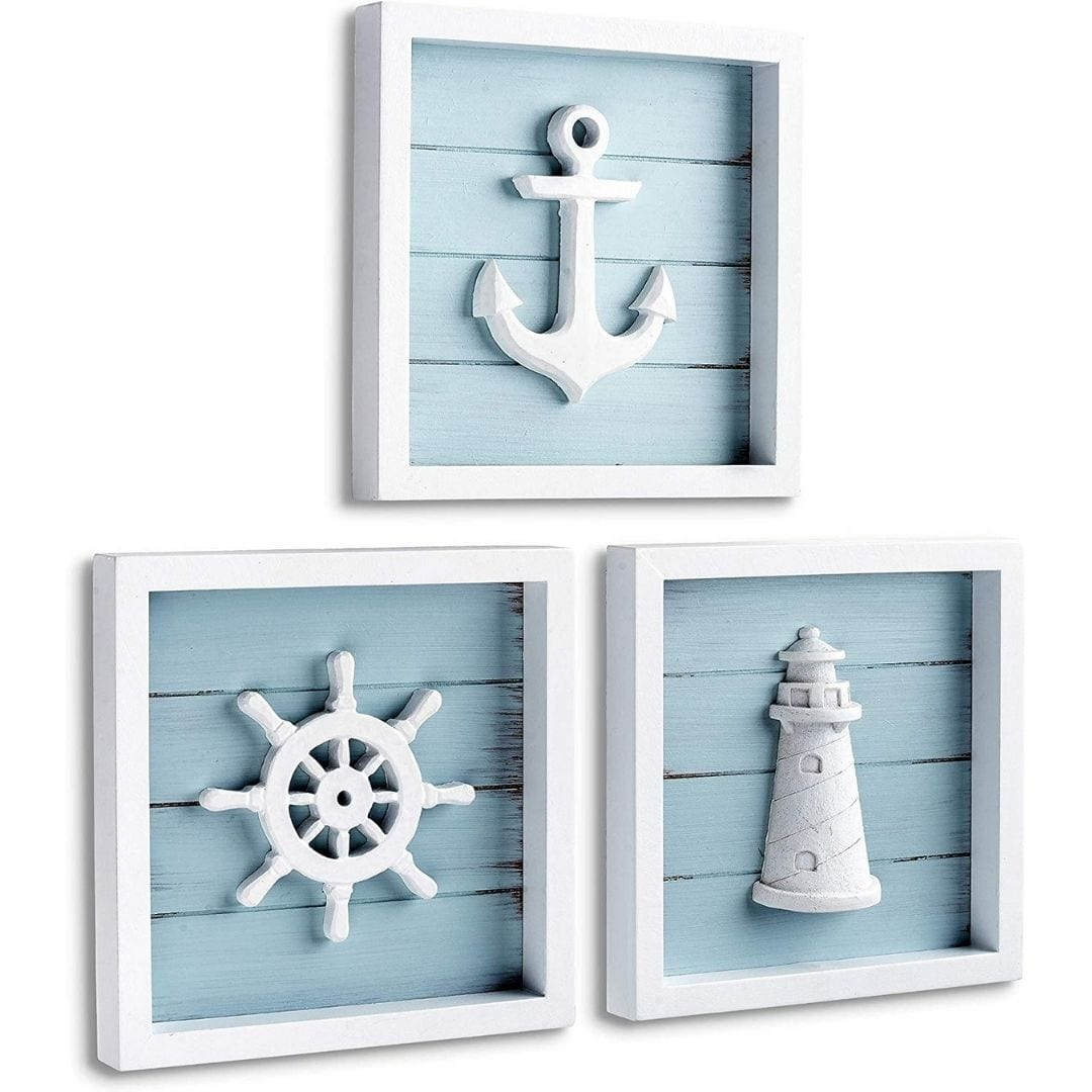 TideAndTales Nautical Wall Decor Set of 3
