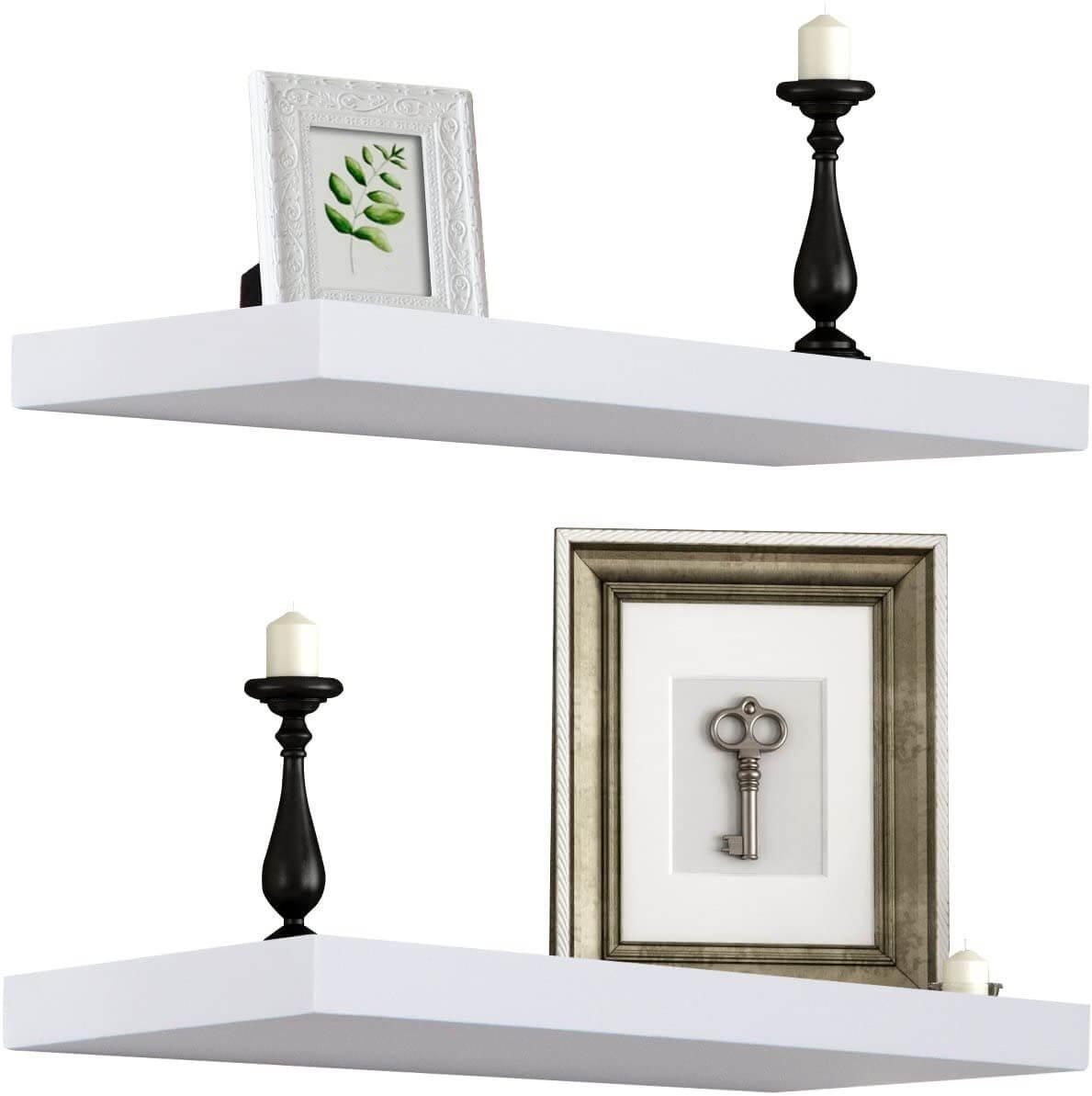 Sorbus Floating Shelf — Hanging Wall Shelves Decoration (extra long)