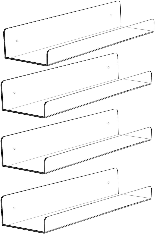 Invisible Acrylic Floating Wall Ledge Shelf
